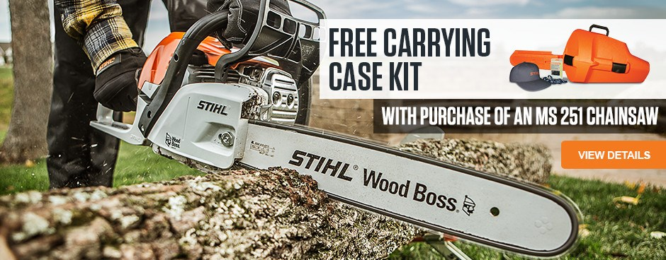 Free Carrying Case Kit with purchase of MS 251 Chainsaw